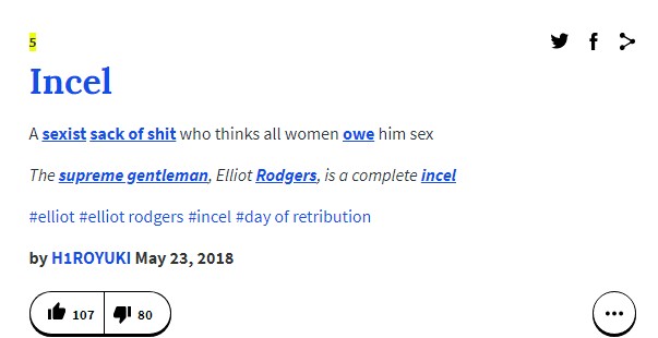 incel urban dictionary